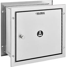 "Global™ Stainless Steel Recessed Specimen Pass-Thru Cabinet, 13-1/4""W x 6""D x 12-3/4""H"