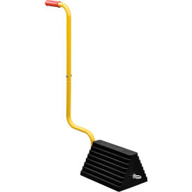 Best Value Molded Rubber Wheel Chock with Handle