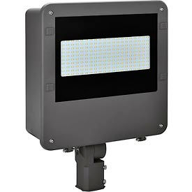 Global™ LED Shoe Box Fixture, 100W, 11000 Lumens, 5000K, Slip-fitter Mount