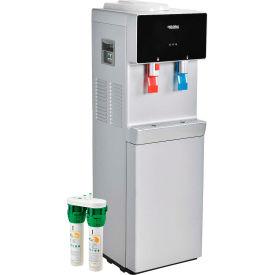 Refroidisseur d'eau Global Industrial® sans bouteille, chaud et froid avec filtration, fini couleur argent/noir