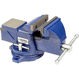 "Global™ Industrial 4"" Jaw Width 2-1/4"" Throat Depth General Purpose Bench Vise W/ Swivel Base"