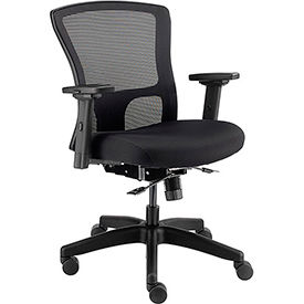 24 Hour Mesh Back Task Chair and Seat Slider - Fabric - Black