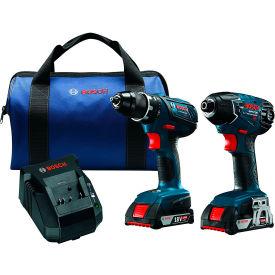 "BOSCH CLPK232A-181 18V Li-Ion Combo Kit 1/2"" Drill/Driver & 1/4"" Impact Driver  (DDS181A,25618)"