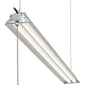 "Global™ 48"" LED Aluminum Shop Light, 35W, 4000K, 3850 Lumens, 48"" Adj Height, 6' Cord"