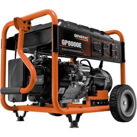 Generac® 6954, 8000 Watts, Portable Generator, Gasoline, Electric/Recoil Start, 120/240V