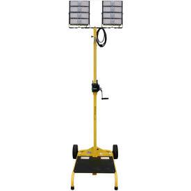 Lind Equipment LE980LED-CART-TD-W Dual Head LED Cart w/Winch, 2-200W Heads, 2-30000 Lumens, 12' Mast