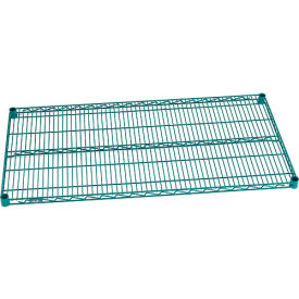 "Nexel® S2148GZ Green Epoxy Wire Shelf 48""W x 21""D with Clips"