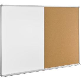 "72""W x 48""H Combination Board - Whiteboard/Cork"
