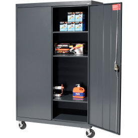 Sandusky Mobile Storage Cabinet TA3R462460- 46x24x66, Charcoal