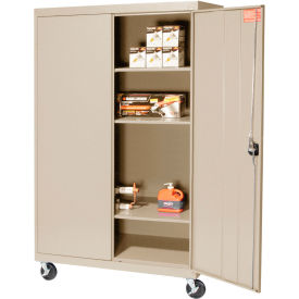Sandusky Mobile Storage Cabinet TA3R462460- 46x24x66, Putty