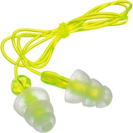 3M™ Tri-Flange™ Earplugs, Corded, P3000, 100 Pairs