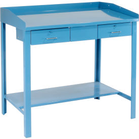 "48""W x 30""D Extra-Wide Shop Desk - Blue- Pkg Qty 1"