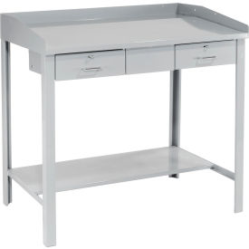 "48""W x 30""D Extra-Wide Shop Desk - Gray"