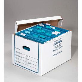 Boîte de stockage de dossier de transfert corrouillé avec couvercle 15-1/4x12-1/4x10-1/4, Prix chacun, qté par paquet : 20