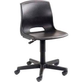 Plastic Office Chair - Black