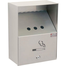 """Global Industrial™ Stainless Steel Wall Mount Outdoor Ashtray 9""""W X 5""""D X 13""""H"""
