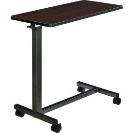 Global Industrial™ Overbed Table with H-Base, Walnut Laminate Tabletop