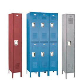 Penco 6419R3736SU Recessed Handle Triple Tier Locker 12x12x24 Assembled 3 Wide Marine Blue