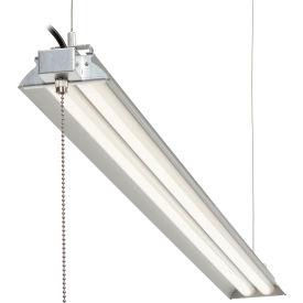 "Global Industrial™ 48"" LED Aluminum Shop Light, 35W, 4000K, 3850 Lumens, 48"" Adj Height, 6'Cord"