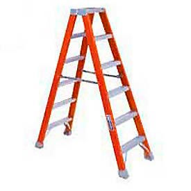 Louisville Dual Access Fiberglass Step Ladders