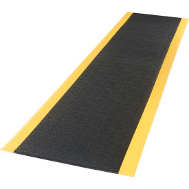 """Apache Mills Safety Soft Foot™ Pebble Surface Mat 3/8"""" Thick 3' x 30' Black/Yellow"""