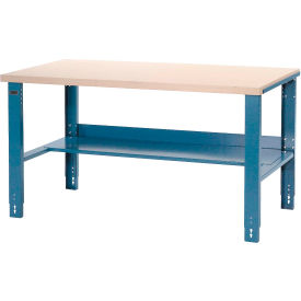 "Global Industrial™ 60""W x 30""D Industrial Workbench, Plastic Laminate Square Edge - Bleu"