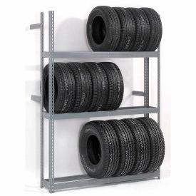 "Global Industrial™ 3 Tier Single Entry Tire Rack 60""W x 18""D x 84""H"