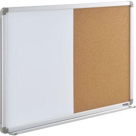"""Global Industrial™ 36""""W x 24""""H Combination Board - Whiteboard/Cork"""