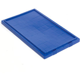 Global Industrial™ Lid LID181 for Stack and Nest Storage Container SNT180, SNT185, Blue - Pkg Qty 6