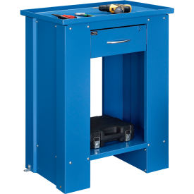 "Global Industrial™ 28""W x 20""D x 35""H Liquid Assembly Repair Bench with Drainage Hole - Blue"
