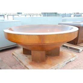 Wausau Tile - Round Concrete Planters – 80 To 96 Inch Wide