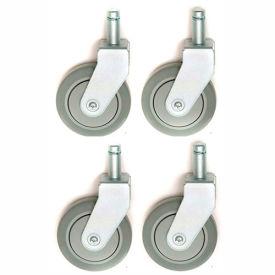 "Nexel® CA5R4 (4) Rigid Stem Casters, 5"" Polyurathane, Set of (4), 1200 lb Capacity"