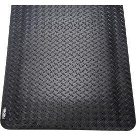 "Global Industrial™ Diamond Plate Ergonomic Mat 15/16"" Thick 36""x60"" Black"