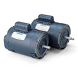 Leeson Pool Motor, Cast Iron C Face Less Base, Single-Phase, Drip-Proof