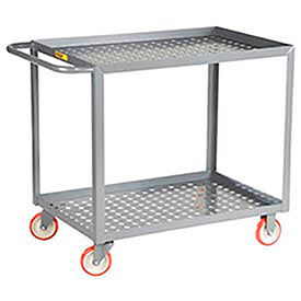 Little Giant® Perforated Shelf Service Carts