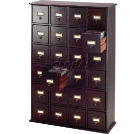 Leslie Dame -  Solid Oak Library Card File Style Multimedia Drawer Cabinets