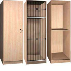 Ironwood Compartment Storage Wood Lockers