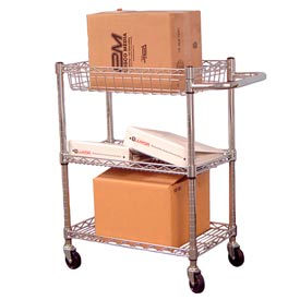 Luxor® Heavy Duty Chrome Wire Transport Carts