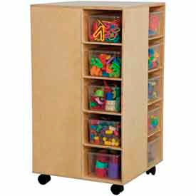 Mobile 4-Side Cubby Storage
