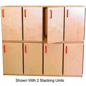 Wood Finished Kids Stacking Lockers