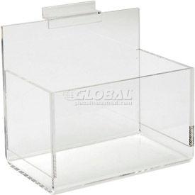 Acrylic Slatwall Shelves, Trays & Bins