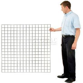 Wire Grid Wall Panels (Bulk) Chrome, Black or White