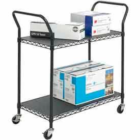 Safco® Black Wire Utility Carts