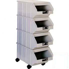 Three & Four Plastic Hopper Bin Mobile Units