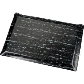 Marbleized Top Ergonomic Mat 2 Foot Wide Cut Black