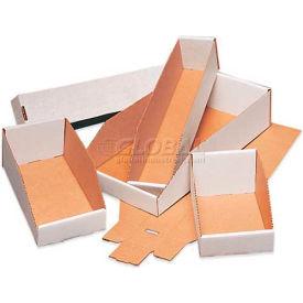 Open Top White Corrugated Bin Boxes