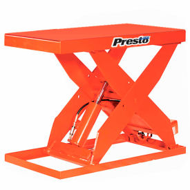 PrestoLifts™ HD Scissor Lift Table XL48-40 64x24 Foot Operated 4000 Lb.