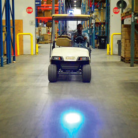 Global Industrial™ Blue LED Personnel Vehicle Pedestrian Safety Warning Spotlight