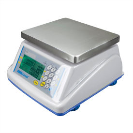"Adam Equipment WBZ15a Digital Washdown Retail Scale 15lb x 0.005lb 8-5/16"" x 6-13/16"" Platform"