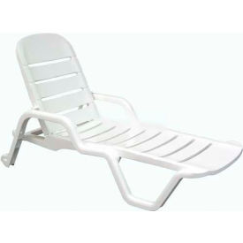Adams® Siesta Chaise Lounge - White  - Pkg Qty 6